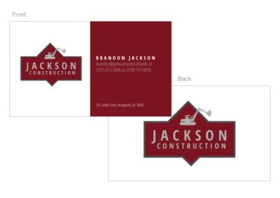 Jackson Construction Business Cards